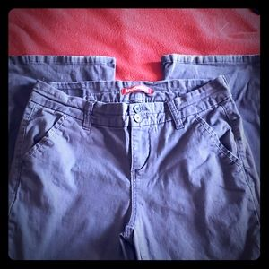 Navy blue bootcut uniform pants